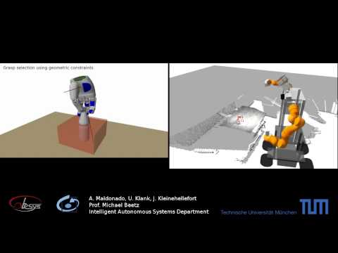 Robot grasp planning on TUM-Rosie for modeled and unmodeled objects