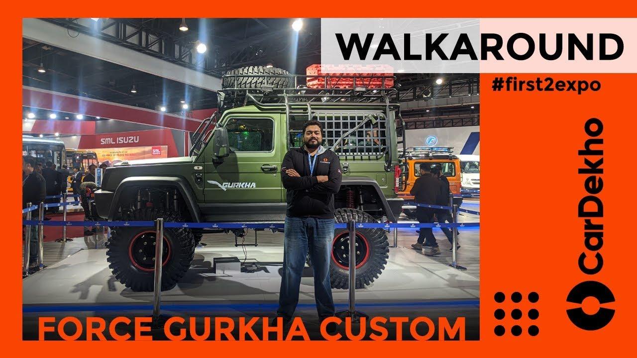 ಬಲ ಗೂರ್ಖಾ custom walkaround ವಿಮರ್ಶೆ ಎಟಿ ಆಟೋ ಎಕ್ಸ್ಪೋ 2020 |  ಎಸ್ಯುವಿ | ಕಾರ್ಡೆಖೋ.ಕಾಮ್