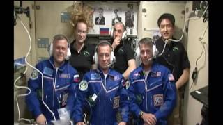 Expedition 49-50 Crew Welcomed Aboard the Space Station