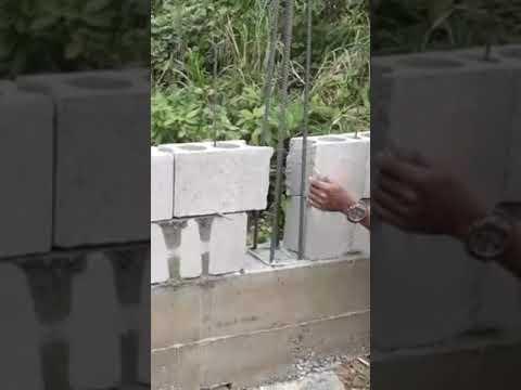 ก่ออิฐบล็อกคาน-ทำกำแพงกั้นดินค