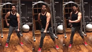 Ram Pothineni Spend Time At Home During Lockdown | Ram Pothineni Latest Workout Video - RAJSHRITELUGU