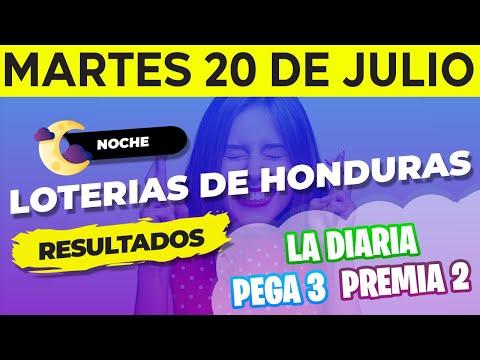 Sorteo 9PM Loto Honduras, La Diaria, Pega 3, Premia 2, Martes 20 de Julio del 2021   Ganador