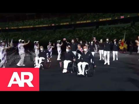 Desfile de la delegación tica en los Juegos Paralímpicos