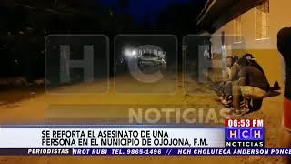 Se reporta el asesinato de una persona en el municipio de Ojojona Fco.Morazán