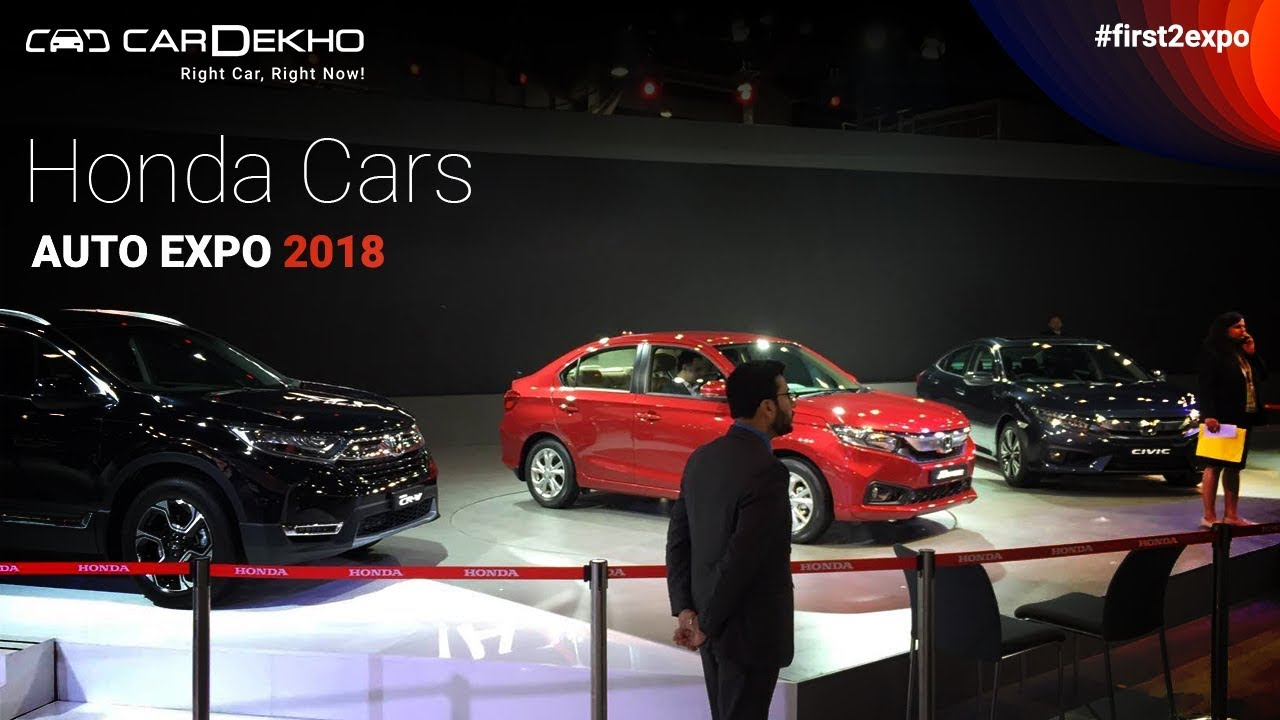 Honda at Auto Expo 2018 | #First2Expo | All The Cars | Pavillion Lineup