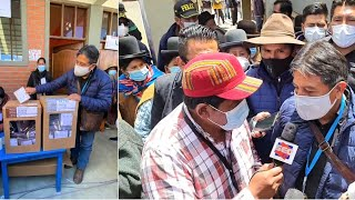 Así Vicepr. David Choquehuanca emite su voto en Huarina - Elecciones subnacionales Bolivia 2021