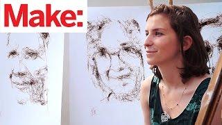 Gorgeous Portraits Drawn by Robot