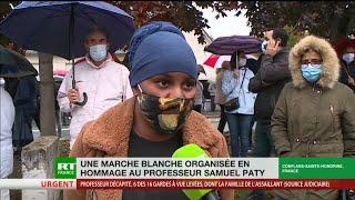 Marche blanche à Conflans-Sainte-Honorine en hommage à Samuel Paty