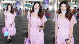 Actress Mehrene Kaur Exclusive Visuals @ Hyderabad Airport | Tollywood - TFPC