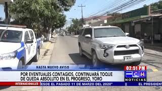 Toque de Queda Absoluto continuará en El Progreso