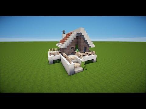 KLEINES MINECRAFT HOLZHAUS Bauen TUTORIAL HAUS TomClip - Minecraft hauser bauen youtube