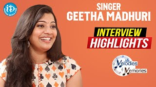 Singer Geetha Madhuri Exclusive Interview Highlights | Melodies & Memories | iDream Movies - IDREAMMOVIES
