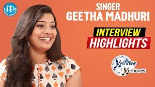 Singer Geetha Madhuri Exclusive Interview Highlights | Melodies & Memories | iDream Movies - IDREAMMOVIES