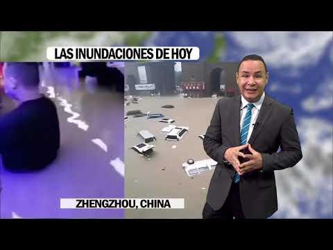 Agresivas inundaciones en Zhengzhou China Lluvias reducidas en el Caribe