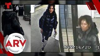 Mujer arroja líquido blanqueador en el rostro de una pasajera de tren   Al Rojo Vivo   Telemundo