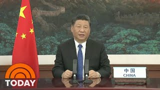Chinese President Xi Jinping Addresses World Health Organization Summit   TODAY