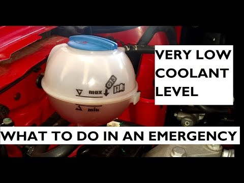 Very Low Coolant Level in a Helpless Situation - What Should You Do