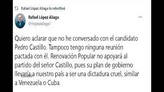 Elecciones 2021: López Aliaga descartó haber conversado con Pedro Castillo