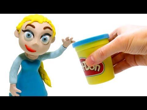 connectYoutube - Elsa Frozen Play Doh Stop Motion Superhero Babies video