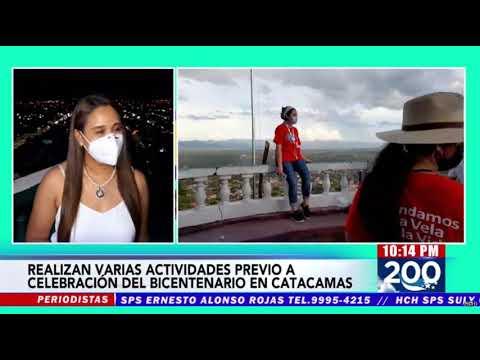 Autoridades de Catacamas realizan actividades en celebración del Bicentenario de Independencia