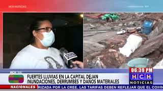 Fuertes lluvias provocan colapso de un muro en la colonia Villanueva de la capital