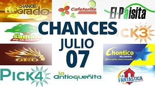 Resultados del Chance del Martes 7 de Julio de 2020 | Loterías ????????????????