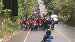 Caravana Migrante  de Honduras en Chiquimula Guatemala