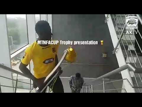 VIDEO: Asante Kotoko present FA Cup to title sponsors MTN