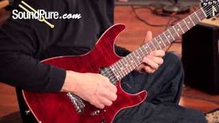 Anderson Angel Cajun Red with Binding Electric Guitar Demo