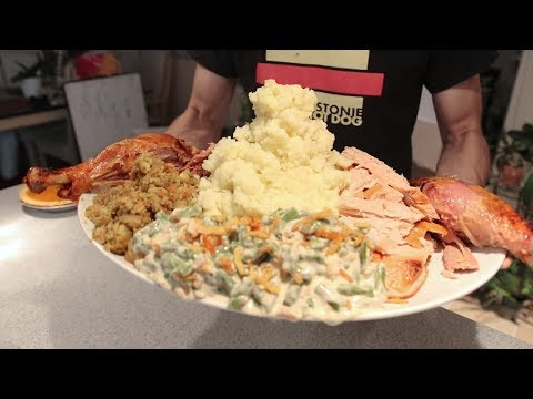 connectYoutube - Largest Plate of Thanksgiving Food Ever
