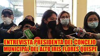 PRESIDENTA DEL CONCEJO MUNICIPAL DEL ALTO PLANTEA REDUCIR SUELDOS DE FUNCIONARIOS DEL MUNICIPIO..