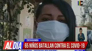 65 niños batallan contra el COVID-19 en Cochabamba