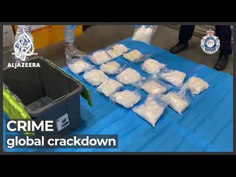 Australia nabs hundreds in global crackdown on organised crime