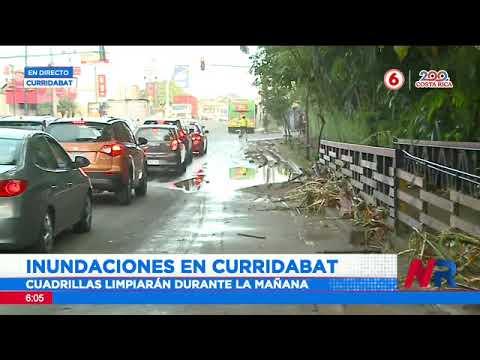 Comercios y estructuras afectadas por inundaciones en Curridabat