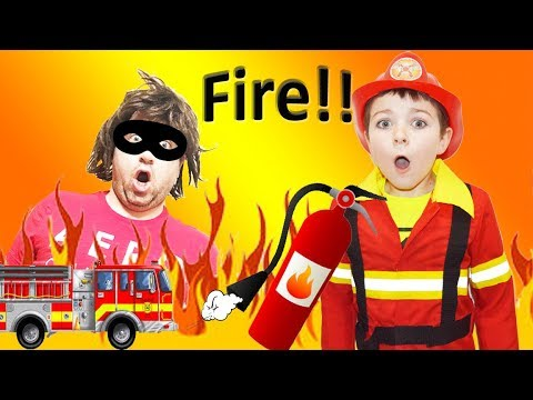 The Fire Starter! Kid Fire Stoppers Save the Day a Funny Kids Video