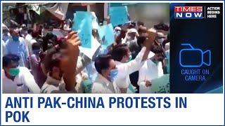 Residents raise Anti Pak-China slogans, Protest against illegal dam construction in PoK - TIMESNOWONLINE