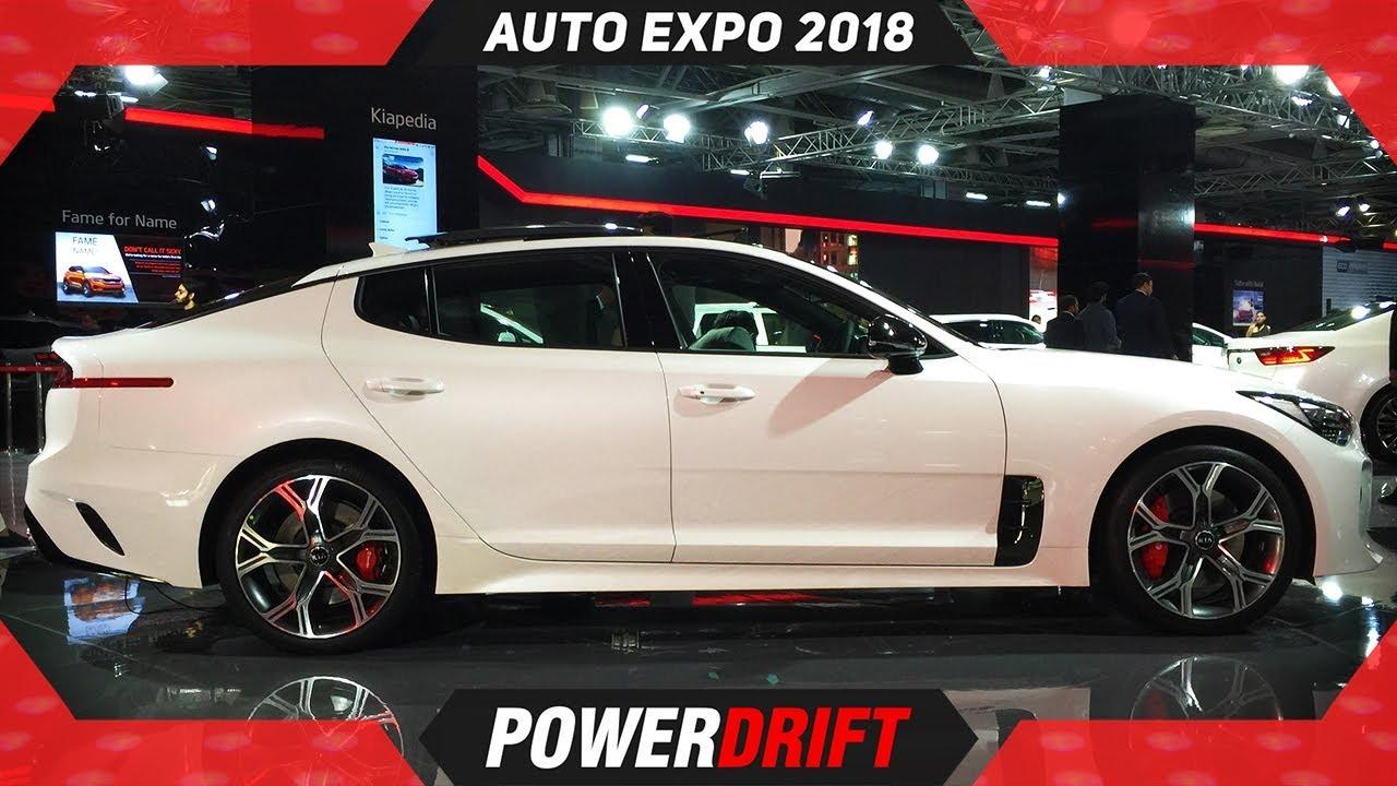Kia Stinger GT @ Auto Expo 2018 : PowerDrift