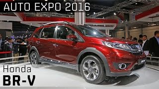 Honda BR-V :: 2016 Auto Expo WalkAround video :: ZigWheels India