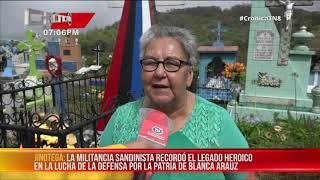 Conmemoran paso a la inmortalidad de Blanca Aráuz en Jinotega – Nicaragua