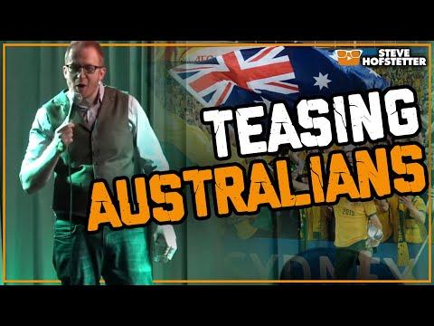 connectYoutube - American comedian strikes back at Australians - Steve Hofstetter