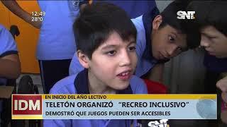 Teletón organizó 'recreo inclusivo' en escuela de Asunción