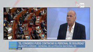 Alberto Jordán: legisladores pueden optar por seguridad privada