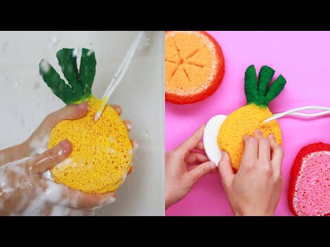 Fruit Sponge Soap Pocket