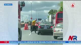 Trailero golpeó brutalmente a conductor en General Cañas