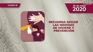 Reporte diario COVID-19, 30 de mayo 2020