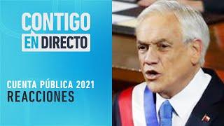 CON PENA Y SIN GLORIA Las reacciones a Cuenta Pública de Sebastián Piñera - Contigo en Directo
