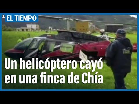 Por falla mecánica un helicóptero cayó en una finca de Chía
