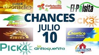 Resultados del Chance del Viernes 10 de Julio de 2020 | Loterías ????????????????