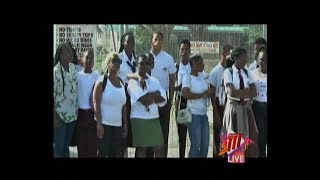 Parents Protest Closure Of Point Fortin East Secondary School