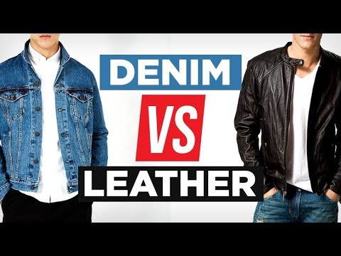 Denim Vs Leather...Which Is MORE Stylish? | Battle of The Jackets